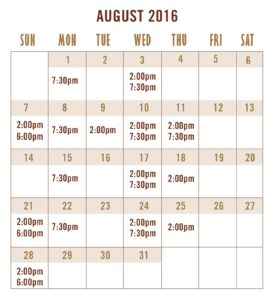 August Calendar Golden Bride 2016-01